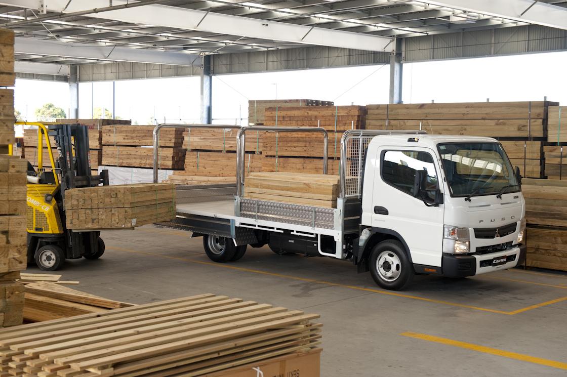 Trade Tray Truck Loading Timber