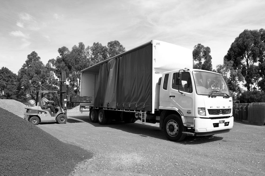 Curtain Slider Truck Black and White